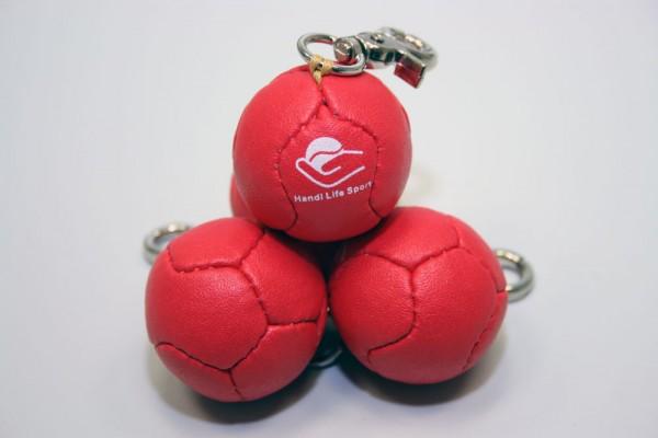 Mini Bocciaball als Anhänger (rot)
