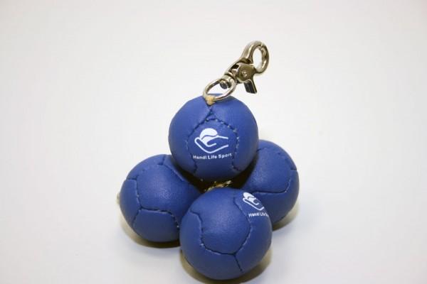 Mini Bocciaball als Anhänger (blau)